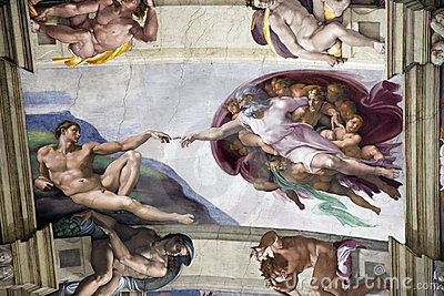 Adam Creation in Sistine Chapel Editorial Image