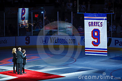 Adam Graves  Number Retirement Editorial Stock Image
