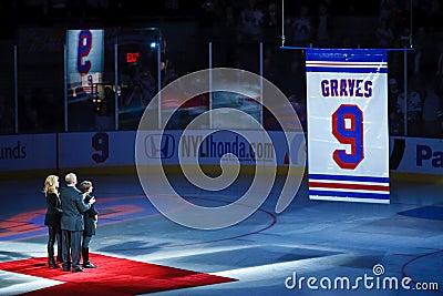 Adam Graves  Number Retirement Editorial Stock Image