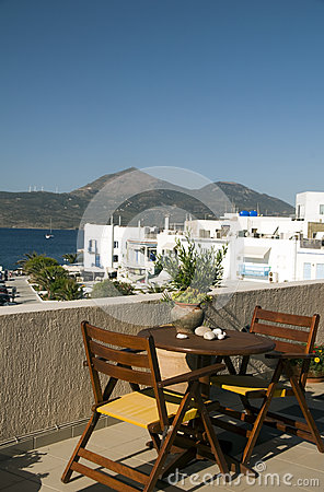 Adamas Milos Greek Island harbor view
