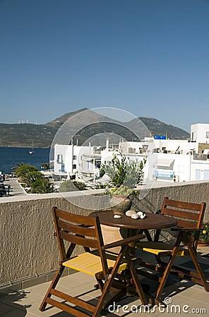 Adamas Milos Greek Island harbor view
