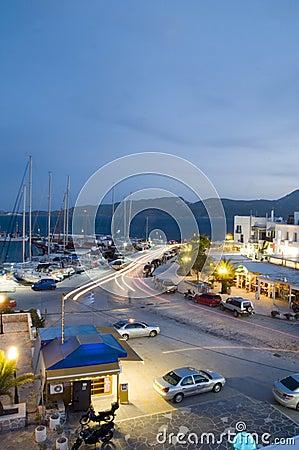 Adamas Milos Greek island town