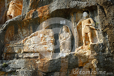 Adamkayalar - Rock Carved Figures. Turkey Stock Photo ...