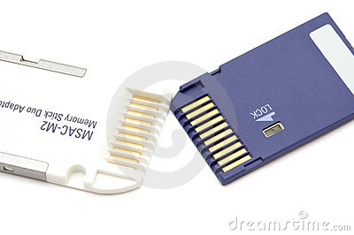 Adapter for memory stick duo Editorial Image