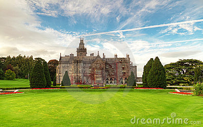 Adare manor and gardens in Ireland