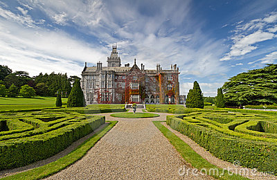 Adare manor in red ivy