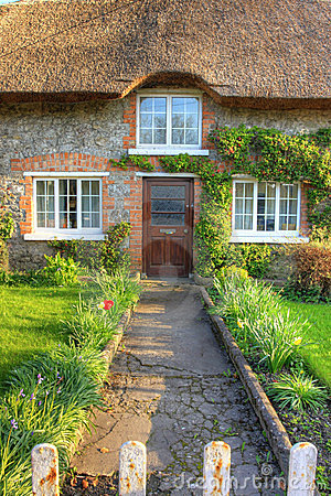 Adare village, Irish traditional cottage house.