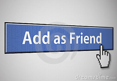 Add as friend button