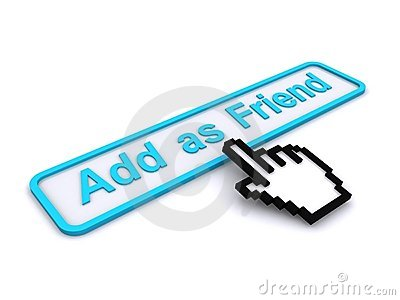 Add as friend button