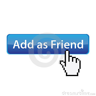Add as friend - social site button