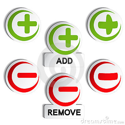 Add remove item - plus, minus