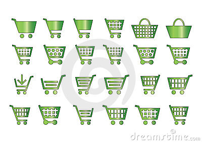 Add to cart icons green