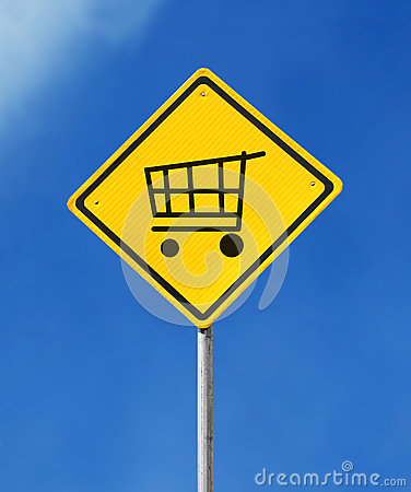 Add to cart sign