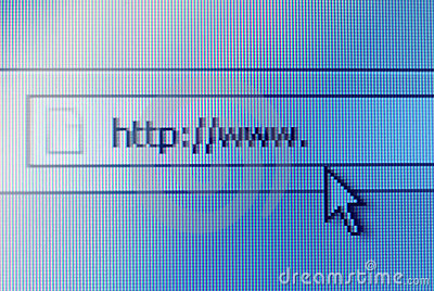 Address bar on computer screen