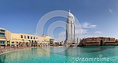 Address Hotel and Lake Burj Dubai Editorial Photography