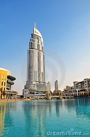 Address Hotel and Lake Burj Dubai, Dubai Editorial Image