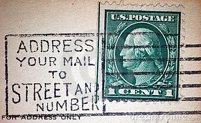 Address Mail by Street and Number Postmark