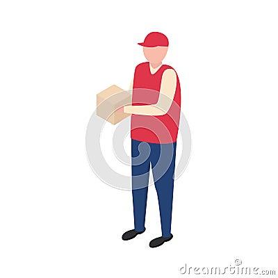 Delivery boy. Vector man Vector Illustration