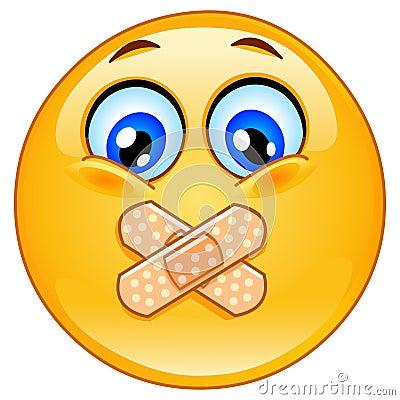 Free Adhesive Bandage Emoticon Royalty Free Stock Image - 22912166