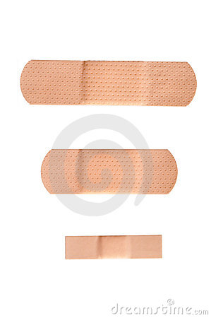 Adhesive bandage strips isolated