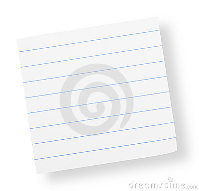 Adhesive lined paper(with clipping path)
