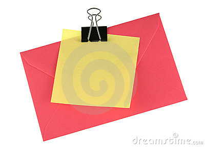 Adhesive note and envelope