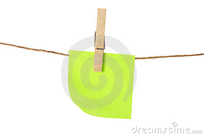 Adhesive Note Paper on Clothes Line