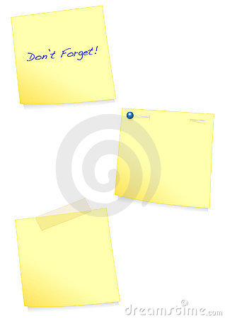Adhesive note vector illustration