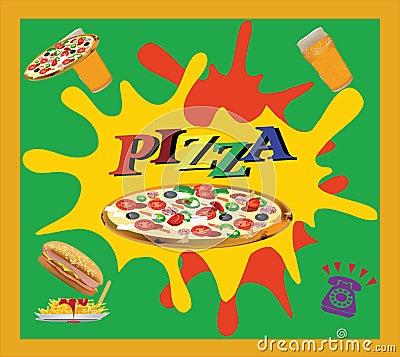 Adhesive pizza takeaway