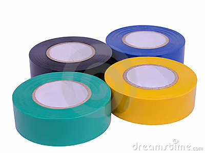Adhesive tape rolls-clipping path