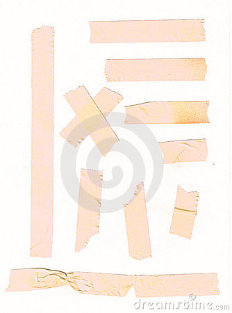 Adhesive tape set for paper note or photo corners