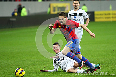 FC Steaua Bucharest- FC Gaz Metan Medias Editorial Stock Photo