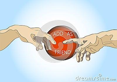 Adicione como o amigo