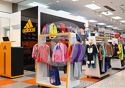Adidas cloth store Editorial Stock Photo