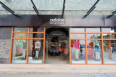 Adidas outlet store Editorial Stock Photo