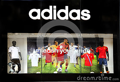 Adidas retail sports store Editorial Photography