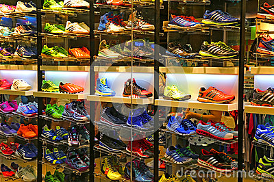 Adidas Sports Shoes Store Editorial Stock Photo - Image