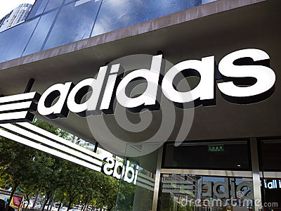 Adidas Store Editorial Stock Image