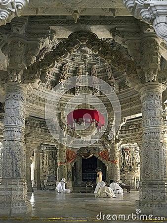 Adinath Jain Temple - Ranakpur - India Editorial Stock Photo