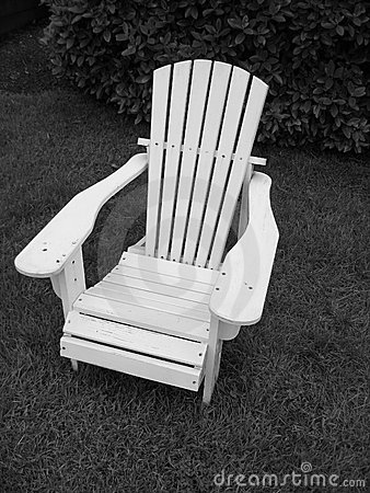 Adirondack Chair__Black and White