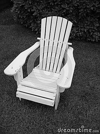 Adirondack Chair__Black and White