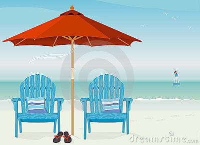 Adirondack Chairs at Beach