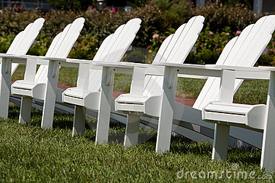 Adirondack Chairs in a Garden