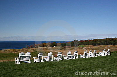 Adirondack Chairs Overlooking Lake Michigan