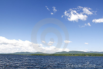 Adirondack Mountains from Lake Champlain