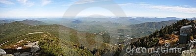 Adirondack Mountains panorama in fall