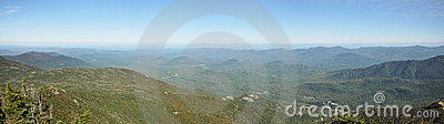 Adirondack Mountains panorama in summer
