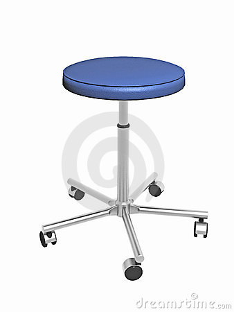 Adjustable stool with wheels
