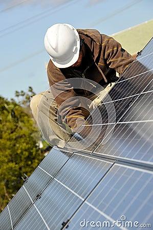 Adjusting Solar Panels