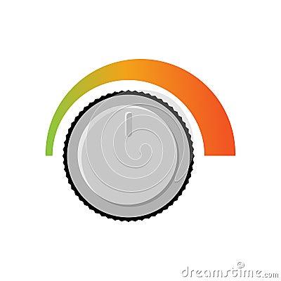 Adjusting volume. Sound level. Changing loudness level of audio Vector Illustration